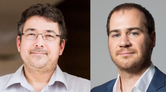 Les professeurs Jérôme Dupras et Christian Messier